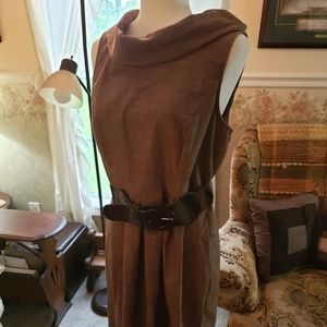 Maurices brown sleeveless dress with belt
